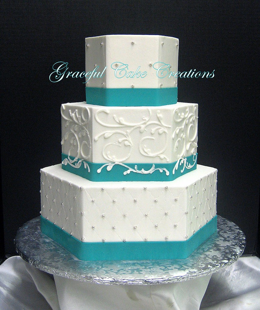 Small  Tiered Wedding Cake Designed