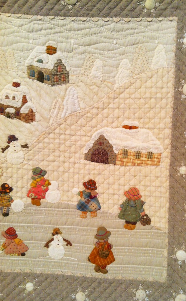 Japanese quilts at houston festival 2013 39 winter 39 by - Reiko kato patchwork ...
