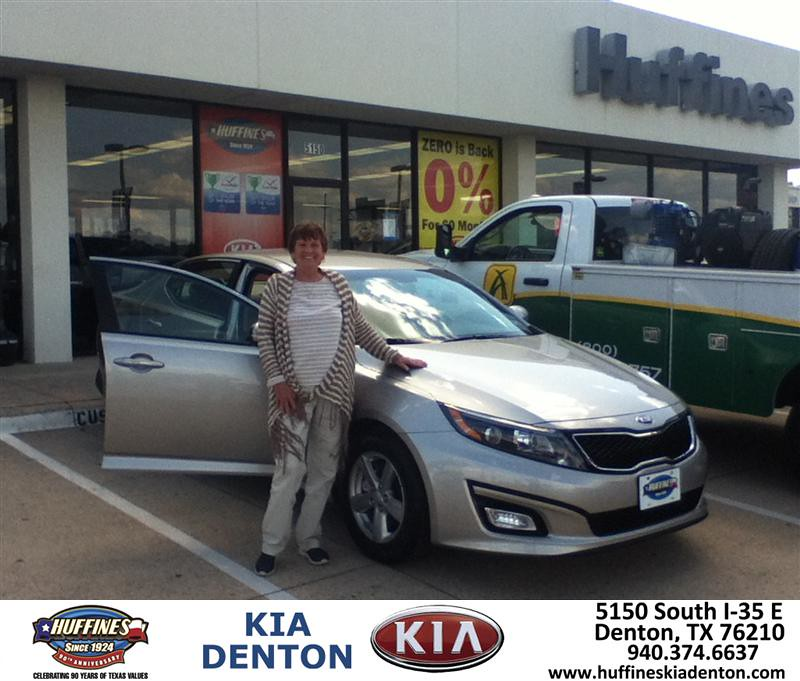 Congratulations To Brenda Barbary On Your Kia Optima Pur