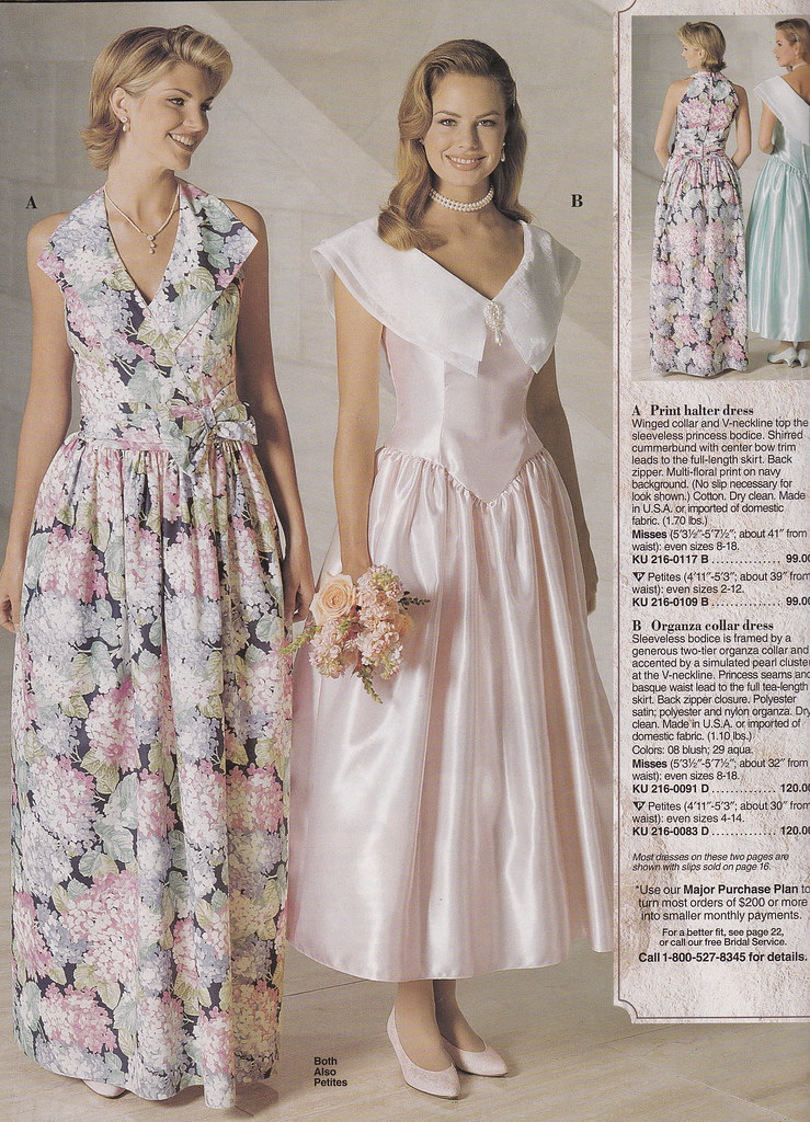 From a mid 9039s jc penney bridal catalog the pink dress for Wedding dress catalog