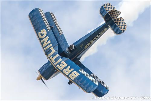 Bücker Bü-131 Jungmann - F-AZVK , CHARBONNEL Bernard , Bucker Breitling ,Meeting de l'air BA-702 Avord , Meeting Aerien Avord 2016 , FOSA , Armée de l'air , Canon Reflex , EOS System