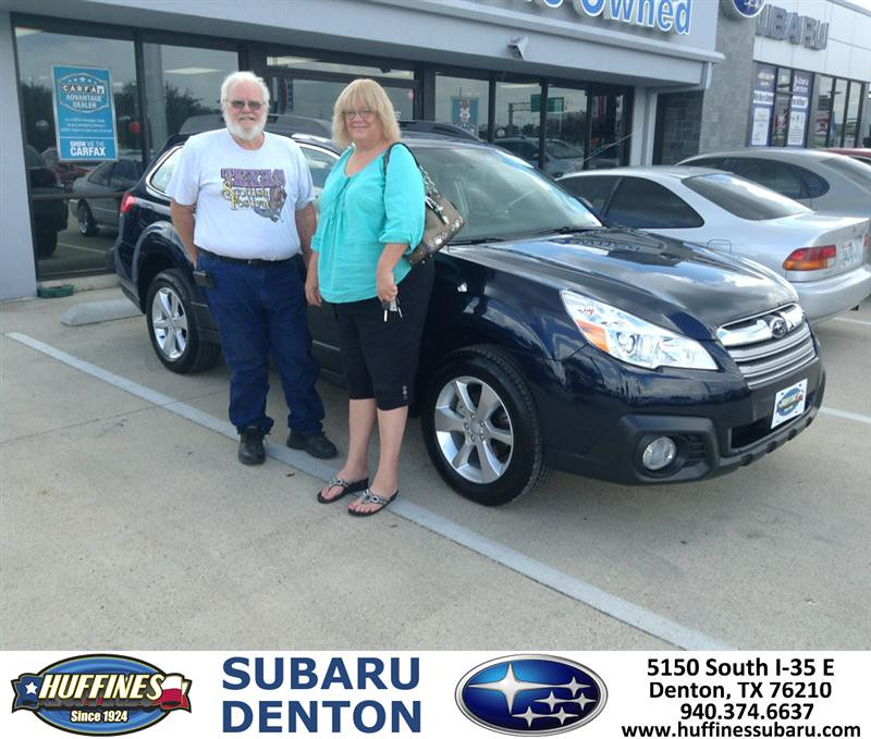 Thank You To James Mcnabb On The Subaru Outback From Dale
