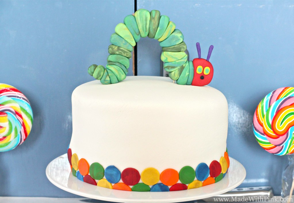 Hungry Caterpillar Cake Topper Tutorial