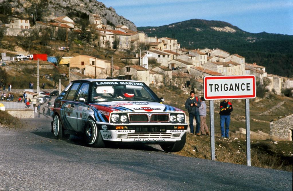 Lancia Delta HF Integrale of Didier Auriol at 1990 Rally M
