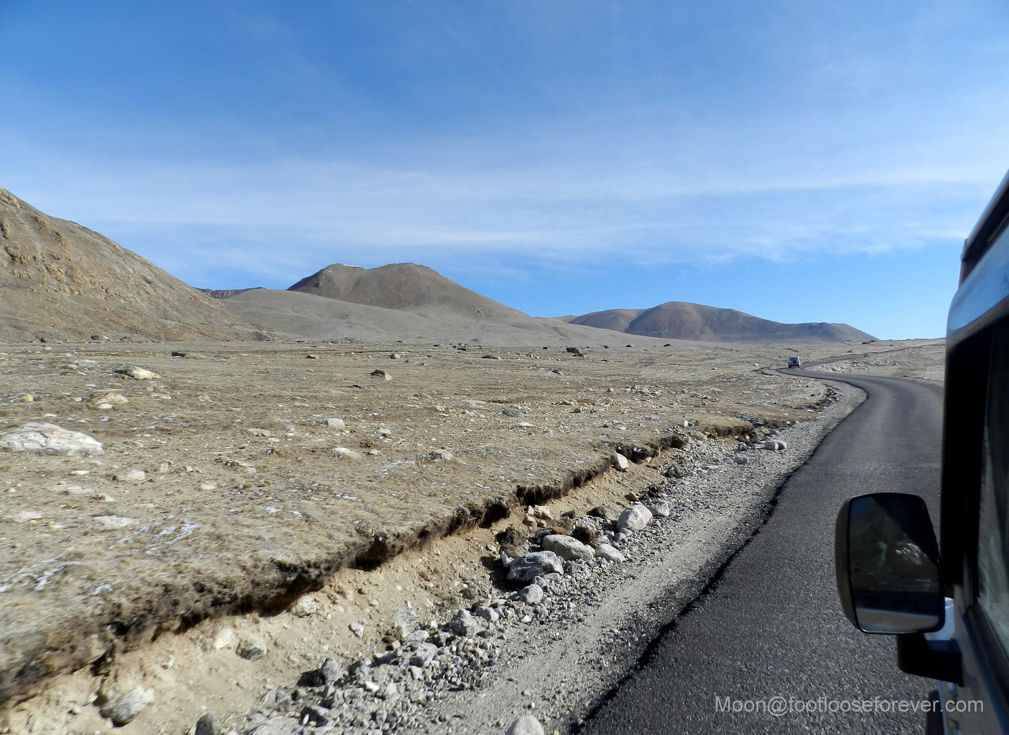 mountain, road, desert, north sikkim