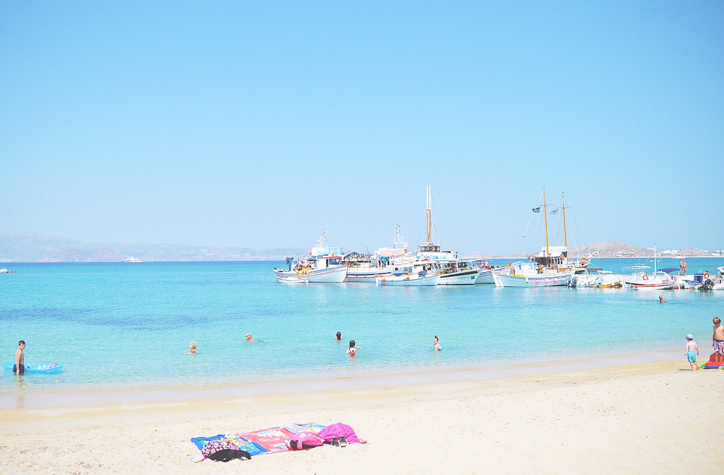 Soft, sandy beaches at Naxos, Greece | via It's Travel O'Clock