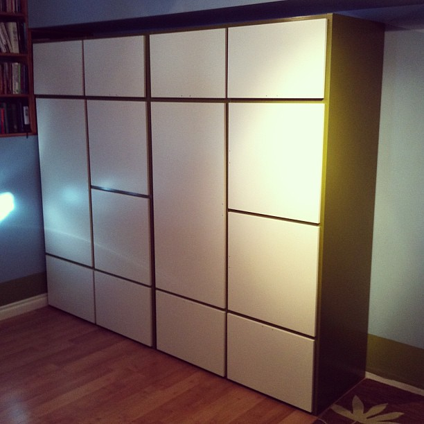 new wardrobes for the boys room sanded and painted green flickr. Black Bedroom Furniture Sets. Home Design Ideas