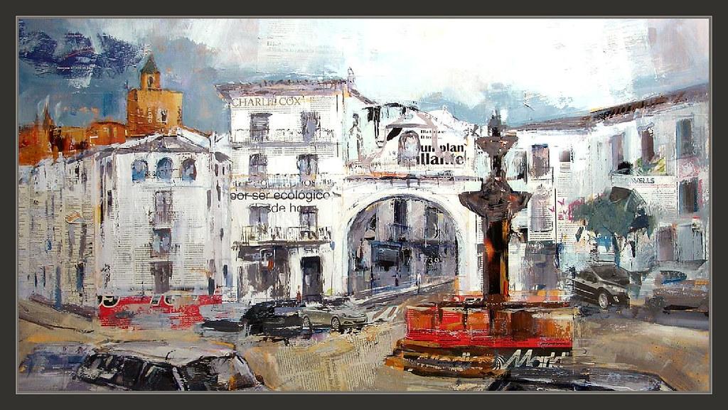Antequera pintura malaga pinturas andalucia espa a paisaje for El tiempo en la joya antequera