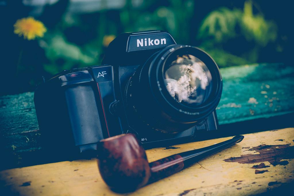 «Nikon F-801 + Jupiter 9 85mm lensa»