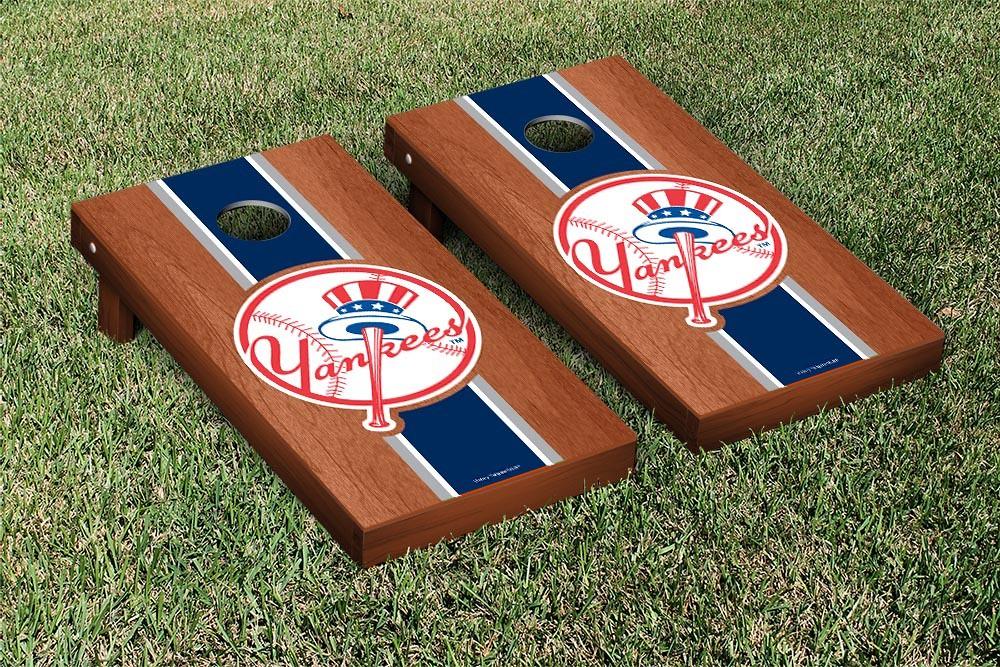 New York Yankees Rosewood Stripe Cornhole Board