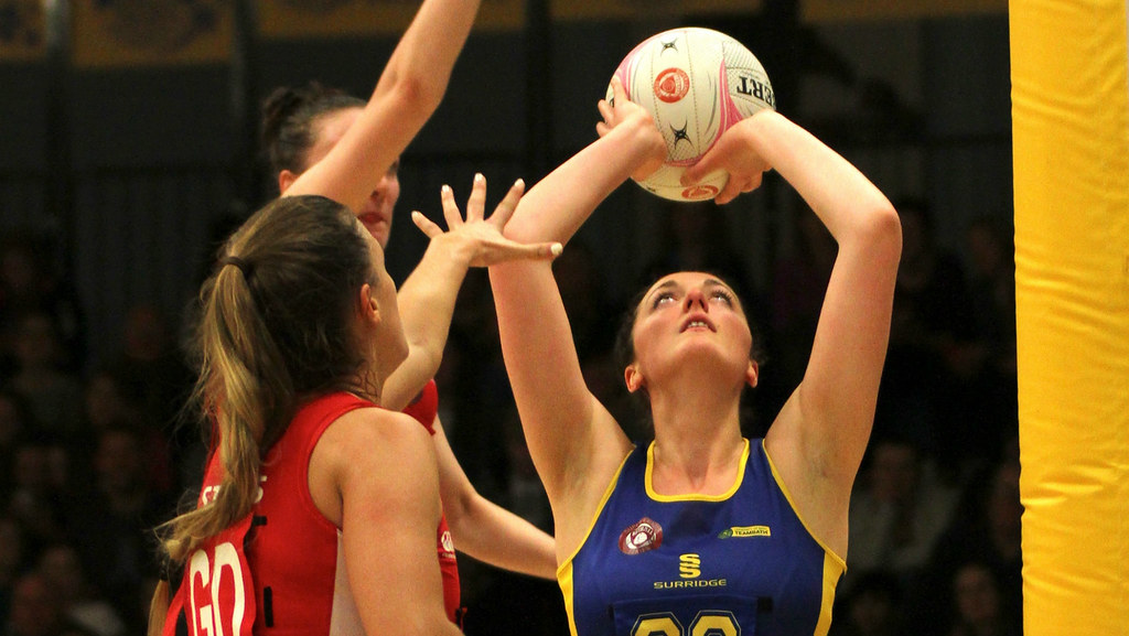 Shaunagh Craig in action for Team Bath Netball