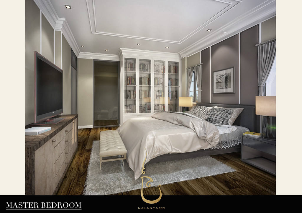 Master Bedroom The Library Modern Colonial Style A