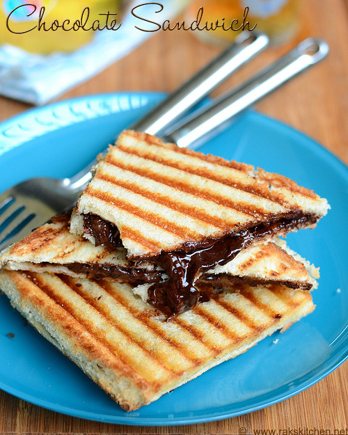 Chocolate sandwich recipe (Grilled chocolate sandwich) | Rak's Kitchen