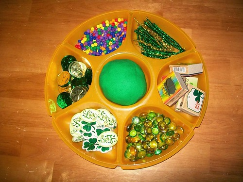 St. Patrick's Day Playdough Tray (Photo from Every Star Is Different)