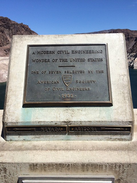 plaque at hoover dam in nevada