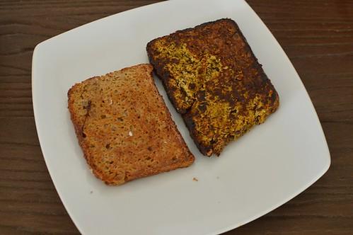 Buckwheat toast, paleo toast