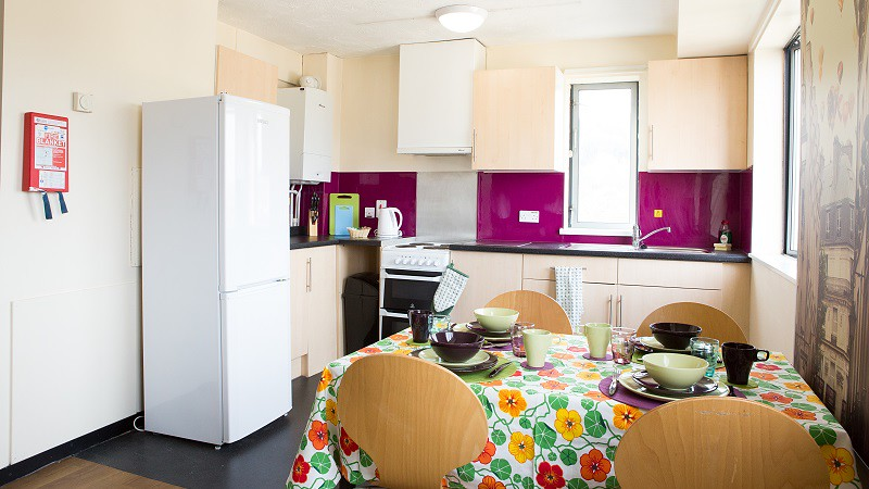 A kitchen in John Wood complex