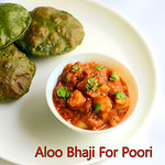 Aloo Bhaji Recipe / Potato Sabzi For Poori