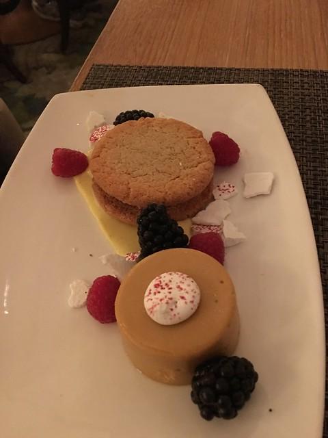 Dessert at The Fairmont