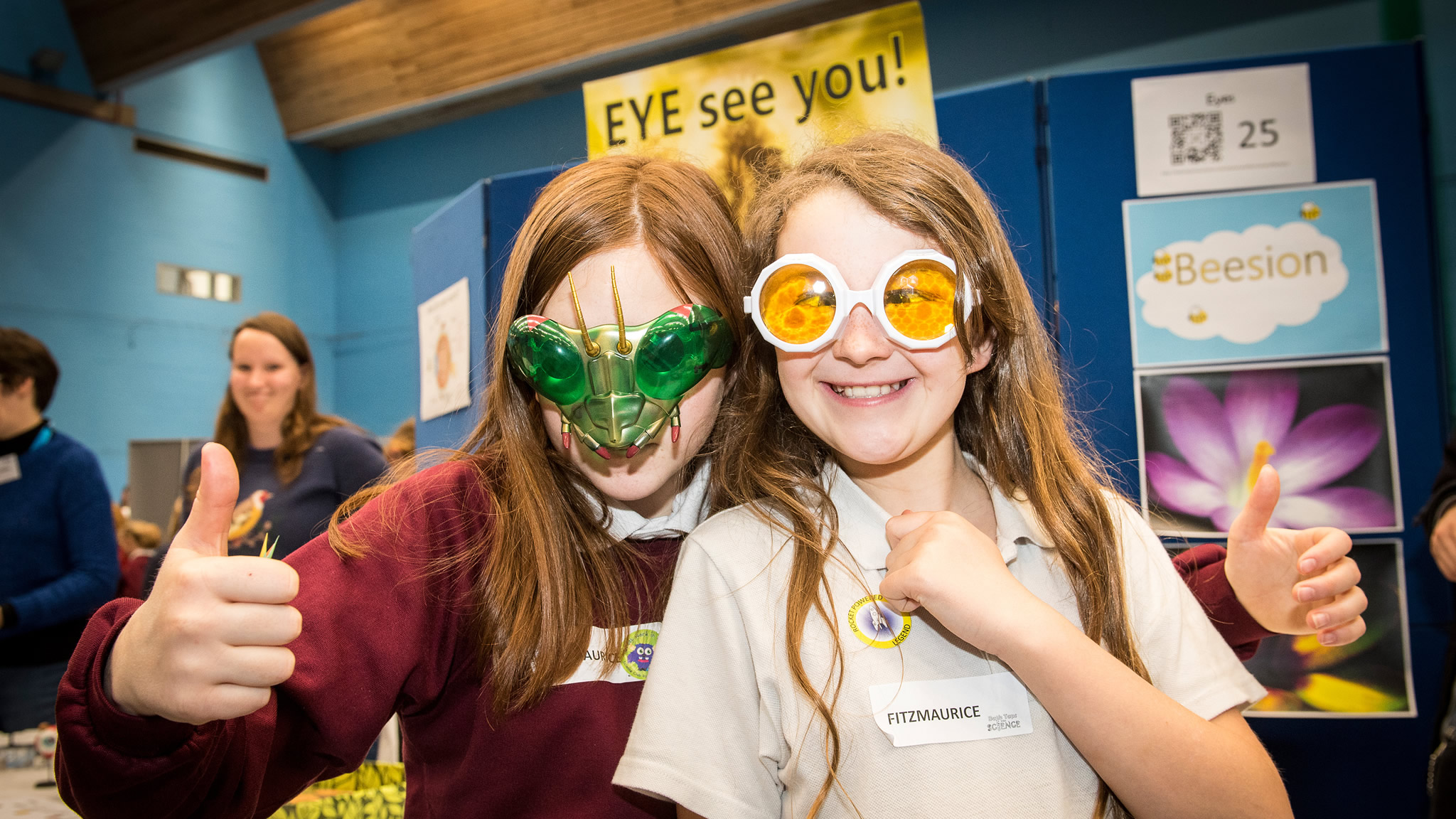 'Eye see you' exhibit at Bath Taps Into Science schools science fair