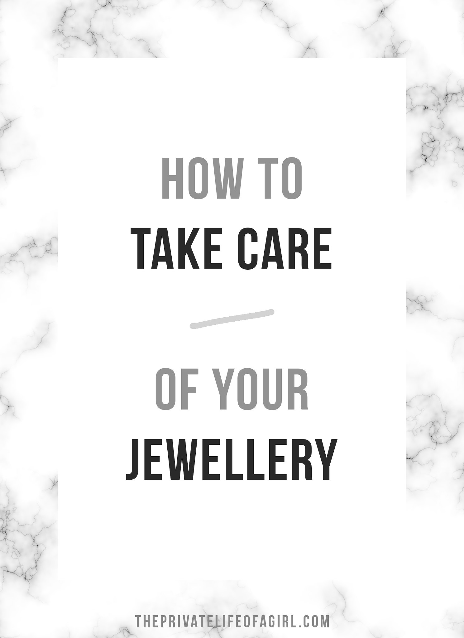 Lessons On Caring For Your Jewellery