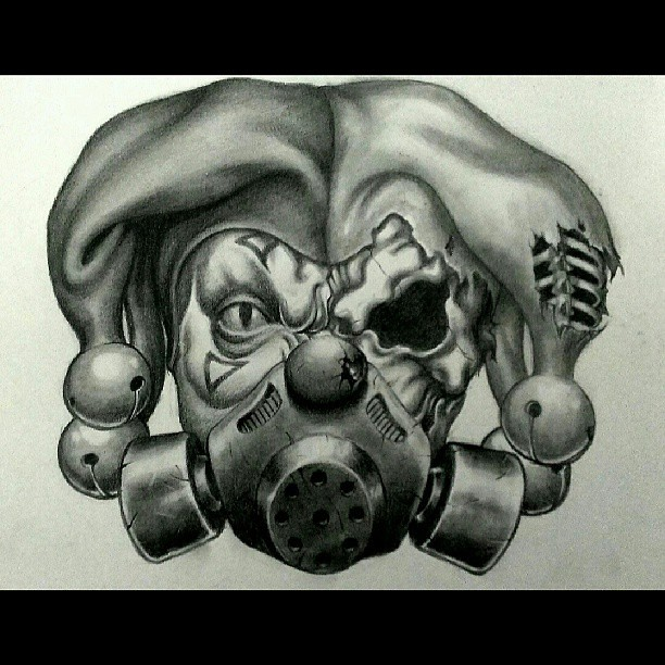 Tattoo Design Commission #joker #jester #clowns #skulls #s