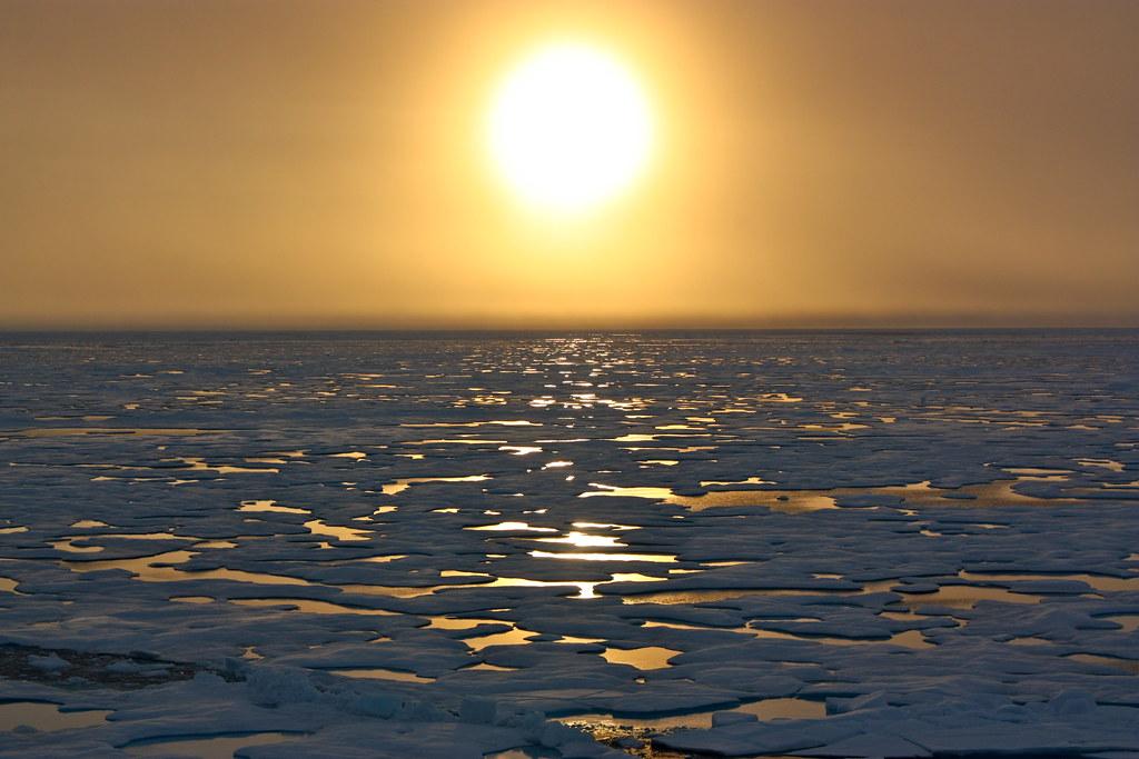 北極冰層的融化已經引起美國國土安全部以及國防部的關注。(照片:NASA Goddard Photo and Video)