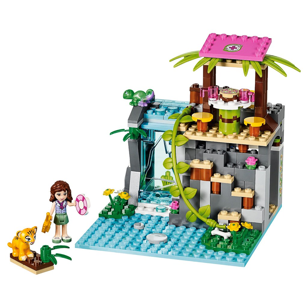 LEGO Friends Jungle Falls Rescue #41033 the falls build ...
