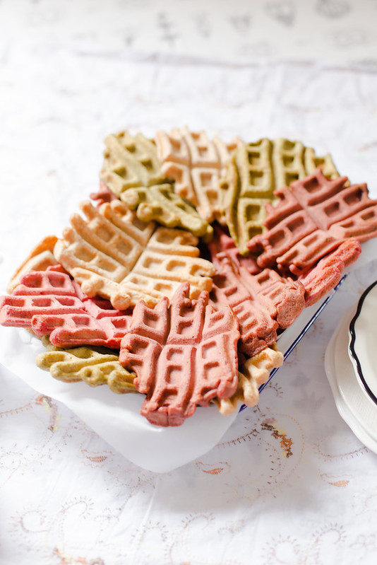 Spelt Waffles with Rosewater Maple Syrup