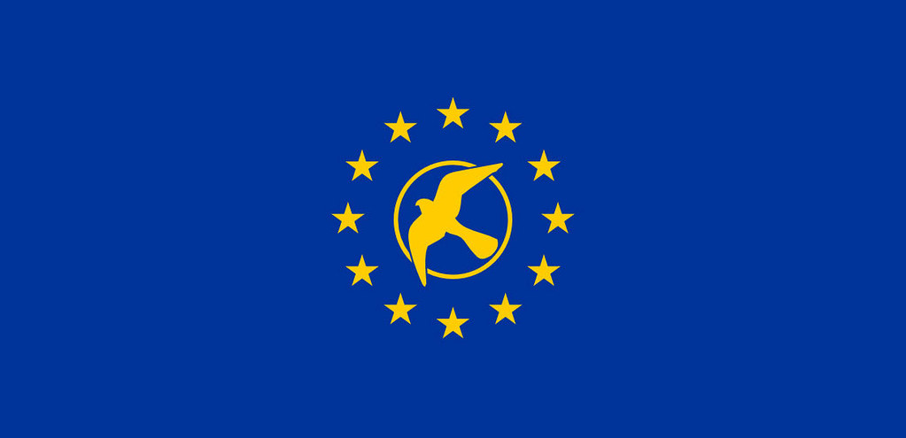 KESTREL European Union logo, from the novel CHANGER