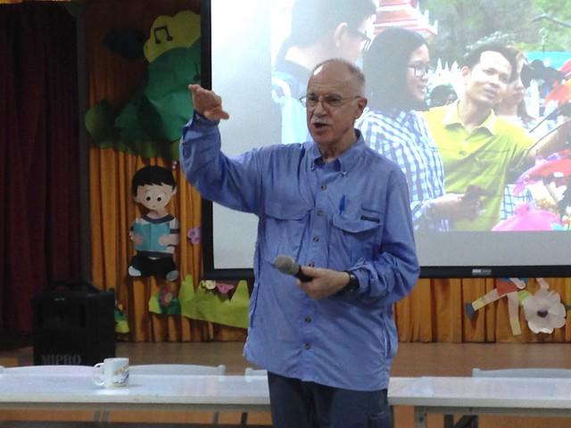國際蝙蝠保育大師墨林‧塔特博士(Dr. Merlin Tuttle)來台公開演講。攝影:廖靜蕙