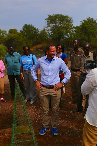 UNDP Goodwill Ambassador HRH Crown Prince Haakon of Norway planted a treet by the Victoria falls in Livingstone | by United Nations Development Programme
