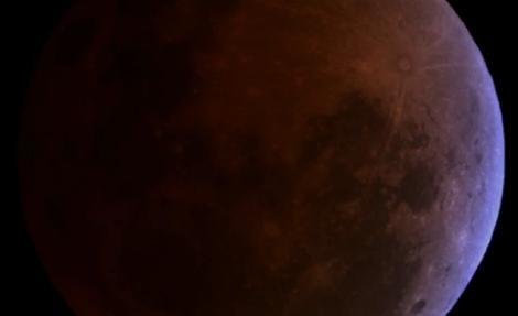 Eclipse lunar visto el 15 de abril de 2014