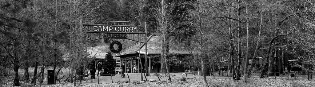 Curry Village Sign And Office In The Woods Chris D 2006