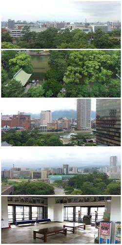 小倉城からの景色