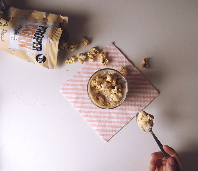 Propercorn smooth peanut & almond frozen yogurt