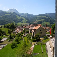 View from Chateau de Gruyères