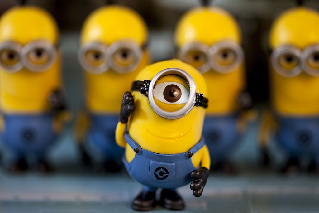1 Eyed Cartoon Characters : One eyed minion character from the movie quot despicable me