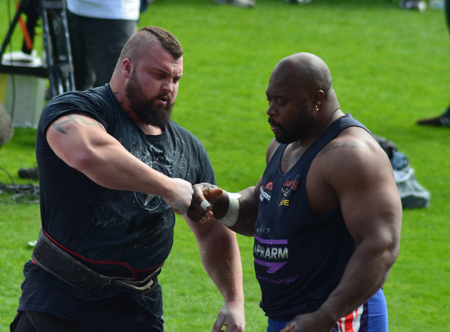 world strongest man use steroids
