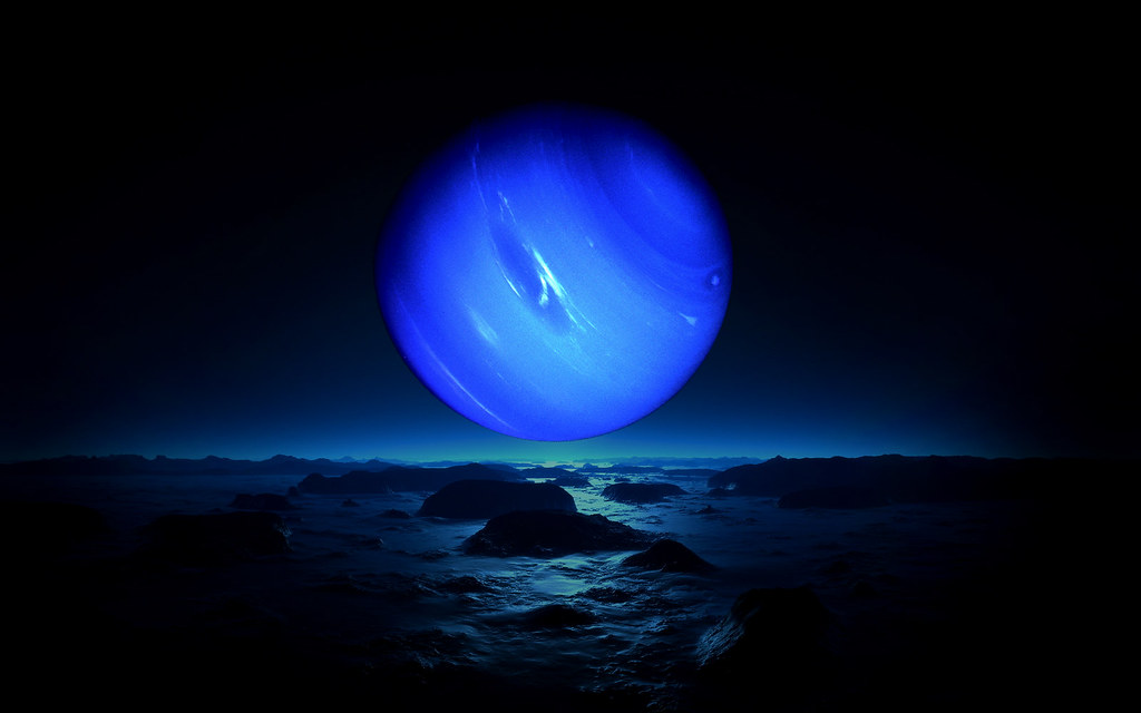Neptune From Triton Neptune Is A Spectacular Sight From