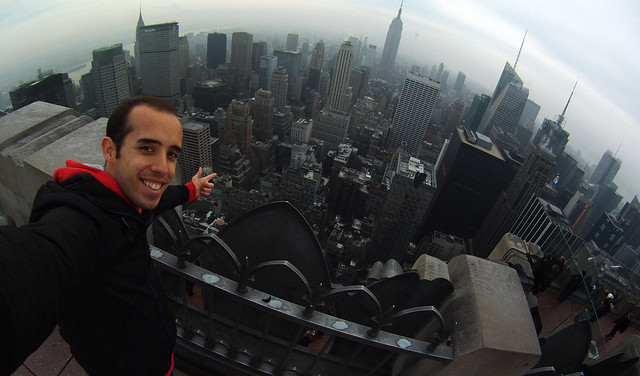 En lo alto del Rockefeller Center, el Top of the Rock de Nueva York