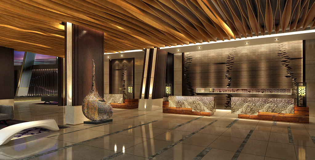 Westin sanya haitang bay resort lobby rendering lobby for Design 8 hotel soest