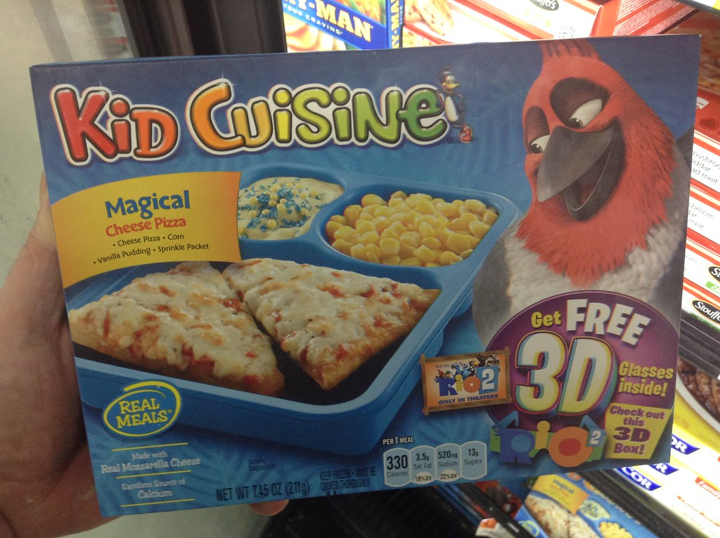 Rio 2 special edition kid cuisine frozen dinner meals pics for Are kid cuisine meals healthy