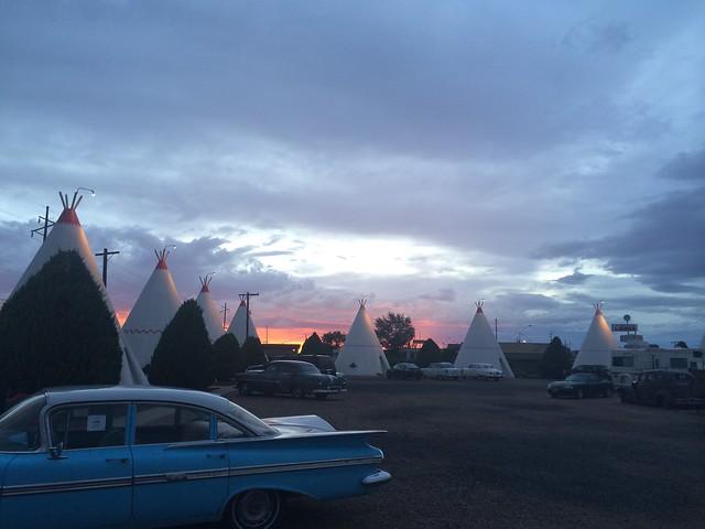sunset route 66 wigwam hotel holbrook teepee motel az arizona