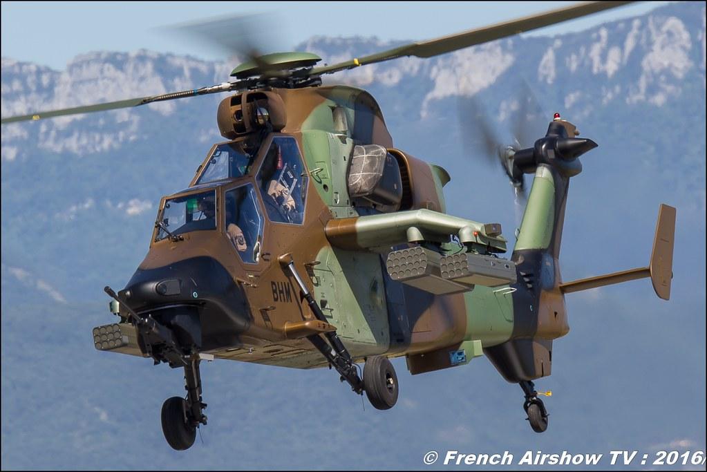 Démonstrations ALAT Aviation Légère de l'Armée de Terre - hélicoptère Eurocopter EC665 Tigre HAP , Aerorotorshow 2016 , meeting aerien chabeuil valence 2016, Meeting Aerien 2016 , Canon Reflex , EOS System , Meeting Aerien 2016