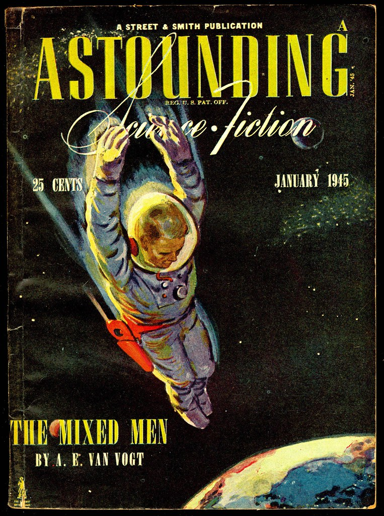 Incredible Vintage Sci Fi Pulp Cover Art Frederick Barr