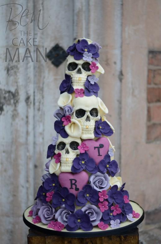 Skull Wedding Cake Ben The Cake Man Flickr