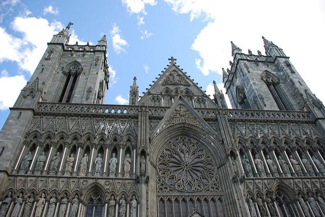 Catedral de Nidaros en Trondheim (Noruega)