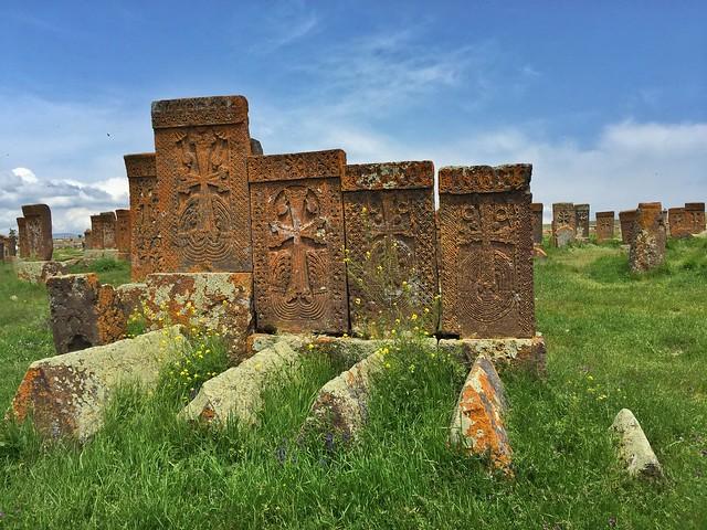 Cementerio de Noraduz (Noratus) en Armenia