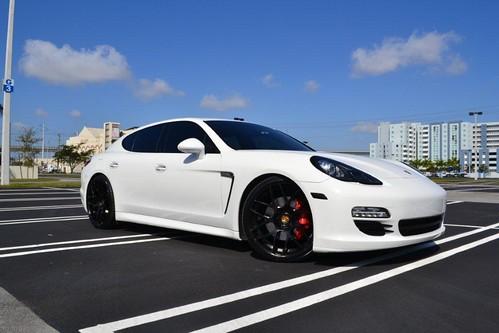 Black Panamera With Black Rims Panamera Staggered Black